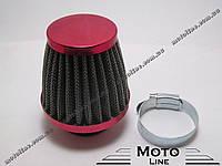 Воздушный фильтр нулевого сопротивления прямой D=35 mm RED GXmotor