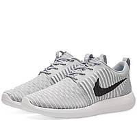 Оригинальные  кроссовки Nike Roshe Two Flyknit Wolf Grey & Black