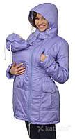 Демисезонная куртка для беременных и слингоношения 5в1, сиреневая, фото 1