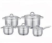 Набор посуды из нержавеющей стали 10 предметов Kamille 5633 S