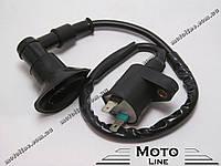 Катушка зажигания+бронепровод+надсвечник на скутер 2т китай GXmotor