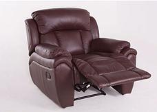 Кожаное кресло реклайнер Boston, раскладное кресло, кресло раскладушка, кресло с реклайнером, реклайнер, фото 2