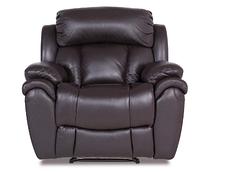 Кожаное кресло реклайнер Boston, раскладное кресло, кресло раскладушка, кресло с реклайнером, реклайнер, фото 3