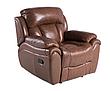 Кожаное кресло реклайнер Boston, раскладное кресло, кресло раскладушка, кресло с реклайнером, реклайнер, фото 4