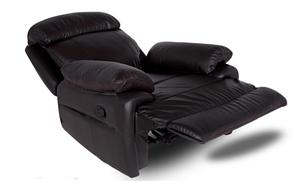 Мягкое кожаное кресло с реклайнером - ORLANDO, фото 2