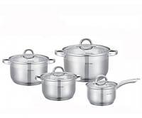 Набор посуды из нержавеющей стали 8 предметов Kamille 5632 S