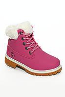 Ботиночки с мехом розовые 944 (30-35)