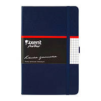 Блокнот на резинке A5 Axent Partner 8201 (96 листов) кремовая бумага, обложка твердая виниловая, синий