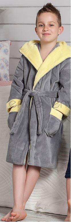 Теплый плюшевый халат для мальчика.Польша