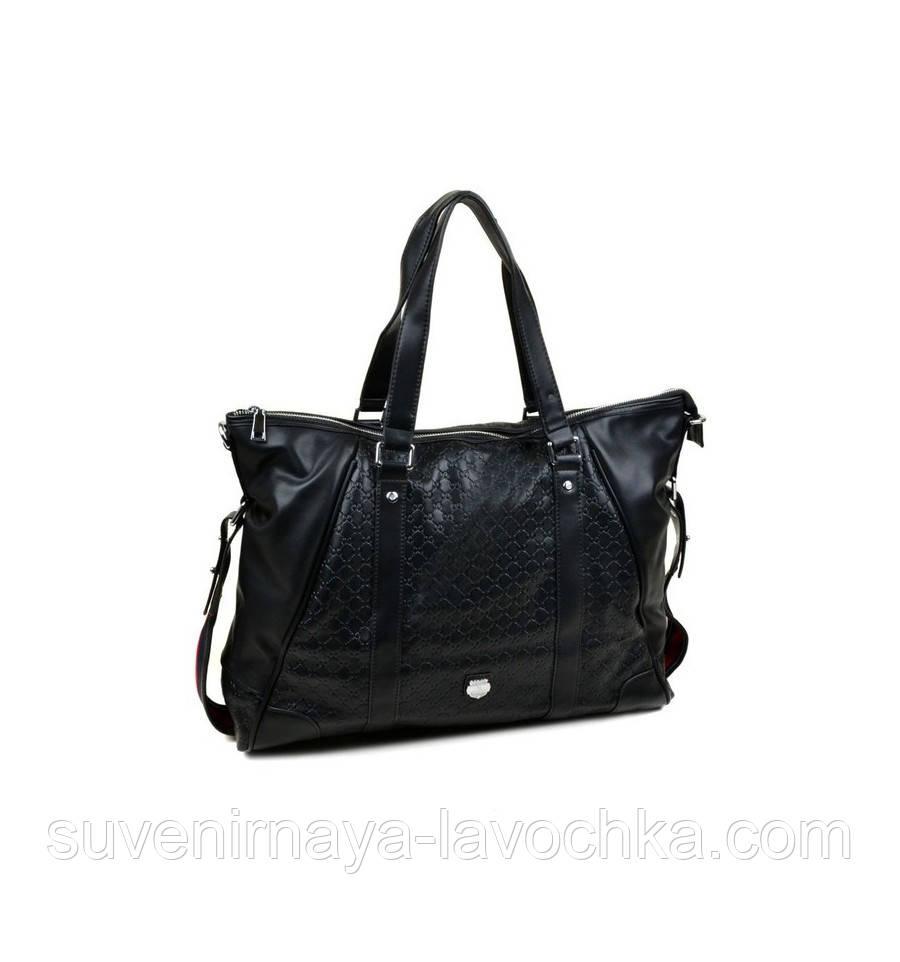 Сумка Мужская Дорожная иск-кожа Bretton 500075H black, сумка вместительная, сумка изящная