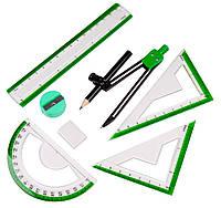 Готовальни школьные (8 предметов) набор для черчения