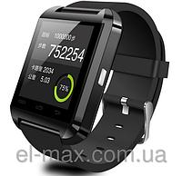 [ Умные Bluetooth часы Uwatch U8 сенсорные ] Smart Watch блютуз часыЧерный