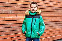 """Детская зимняя куртка """"Стильный мачо"""" с искусственным мехом"""