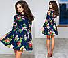 Платье женское цветы фатиновый подъюбник в комплекте, фото 2