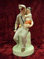 Фарфоровая фигурка Городница испанец с ребенком