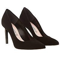 Туфли женские Bravo moda (черные, замшевые, изысканные, элегантные, удобные, стильные)