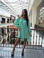 Женское платье с открытками плечами