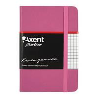 Блокнот на резинке A6 Axent Partner 8301 (96 листов) кремовая бумага, обложка твердая виниловая, пурпурный