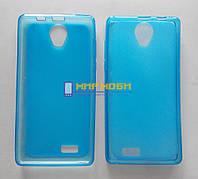 Чехол-бампер TPU силикон матовый Prestigio MultiPhone 3503 Wize C3 Синий