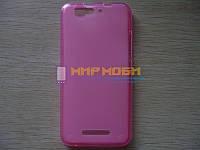 Чехол-бампер силикон TPU матовый Gigabyte GSmart Guru G1 Розовый