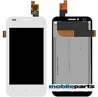 Оригинальный  дисплей (модуль) + сенсор (тачскрин) для FLY IQ442 Quad Miracle 2(Белый) + Скотч