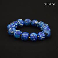 Браслет из полимерной глины синий