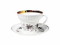 Набор чашка чайная с блюдцем И.Ф.З. Волна Тонкие веточки 14403