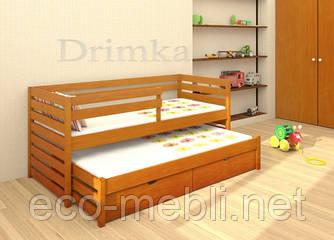 """Одноярусне ліжко з додатковим висувним спальним місцем """"Сімба"""""""