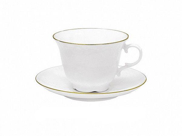Чашка кофейная с блюдцем И.Ф.З. Жасмин Золотой кантик 150 мл 14061