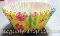 Форма для кексиков  жёлтые с цветочками