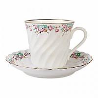 Чашка кофейная с блюдцем И.Ф.З. Витая Весенний 155 мл 13951