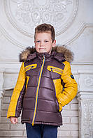 "Зимняя куртка для мальчика ""Cэм"" (шоколад)"