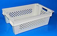 Пластиковый Ящик 600х400х200 дно сплошное стенки перфорированные