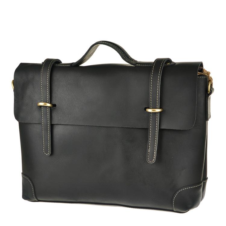 Кожаный портфель Bexhill Bx1033 черный