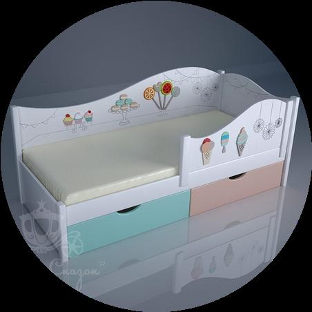 Кроватки детские декорированные (Ольха+МДФ)