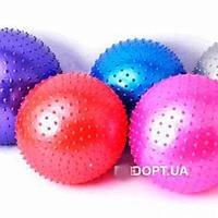 Мяч,мячик,для,фитнеса,массажный,с пупырышками,для похудения,65,75,85см, фото 1