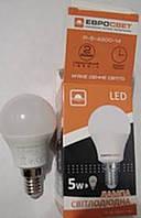 Лампа светодиодная шар P-5-4200-14 5вт 230V