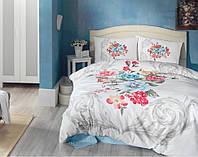 Постельное белье Cotton Box Floral Series 3D 200х220 Vanessa Mavi