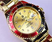 Мужские наручные часы Rolex Submariner Gold(копия) календарь