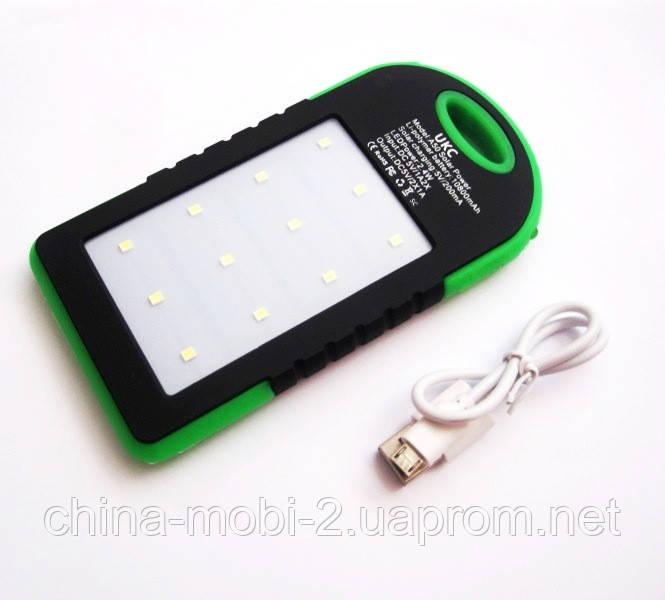 Солнечная батарея  UKC Power bank solar 10800 mAh с мощным фонарем new