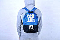 Рюкзак повседневный конверс (Converse), голубой реплика