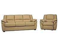 Мягкая кожаная мебель с реклайнером - ALABAMA (3+1)