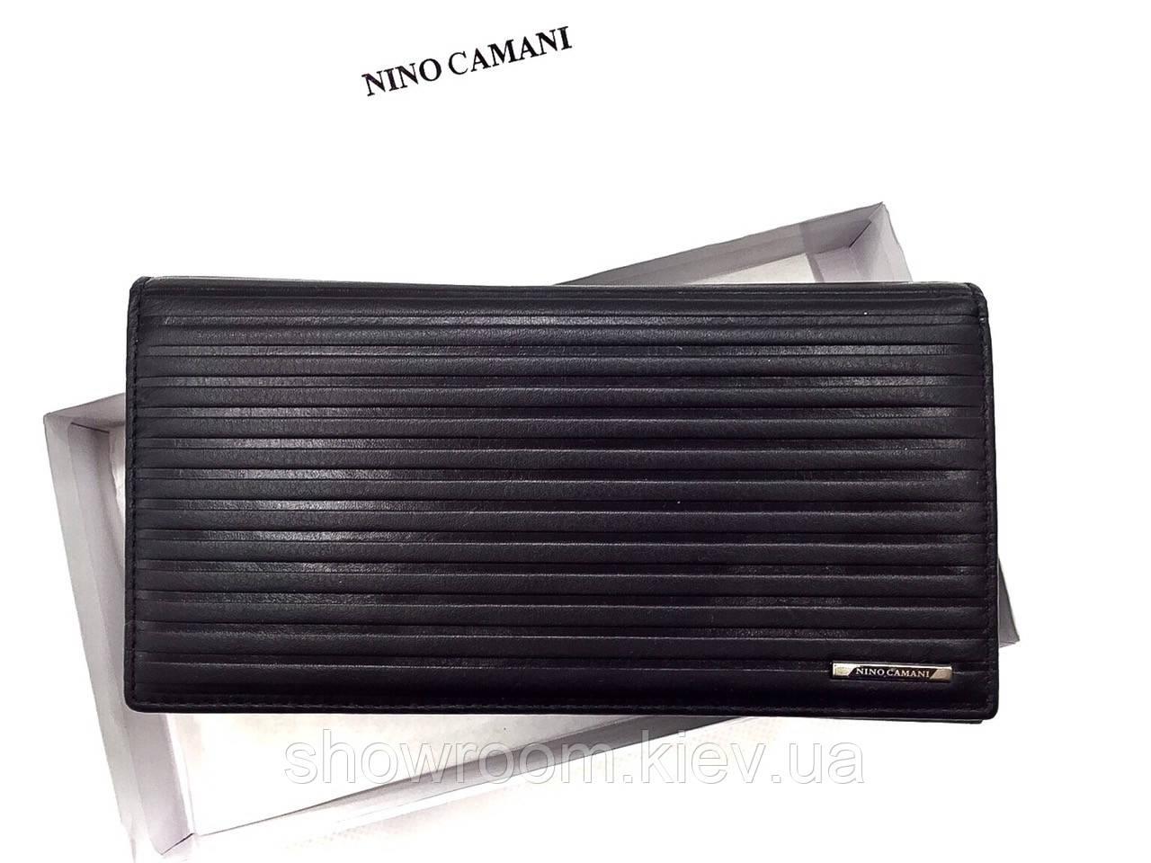 Бумажник мужской Nino Camani (1601) черный кожаный