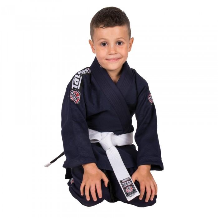 Кимоно детское для бразильского джиу-джитсу TATAMI Kids Nova 2015 Темно-синее + Белый пояс