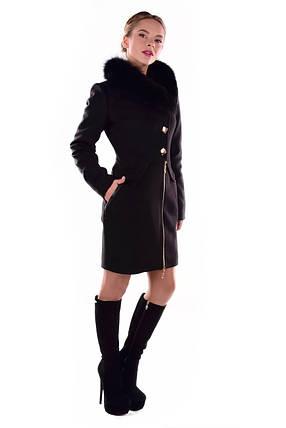 Женское зимнее кашемировое пальто арт. Глазго песец Турция элит 4571, фото 2