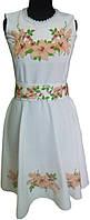 """#вишиванка, сукня вишита бісером """"Чарівна Лілея (Арт. 01657)"""