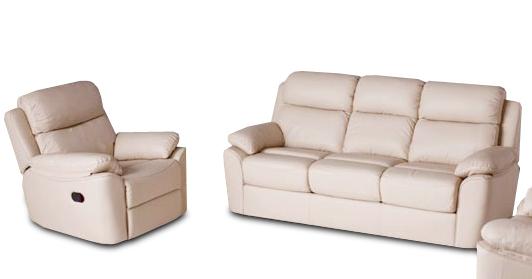 Шкіряний диван з кріслом - ALABAMA BIS. Реклайнер (3+1)