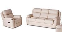 Кожаный диван с креслом - ALABAMA BIS. Реклайнер (3+1)