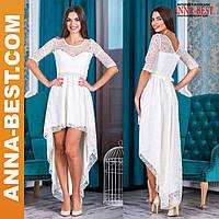 """Вечернее белое платье кружевное """"Афродита люкс"""""""