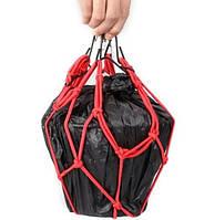Сетка-паук для перевозки груза красная (30х30см)